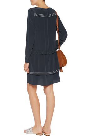SEE BY CHLOÉ Embroidered silk crepe de chine dress