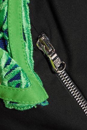ROBERTO CAVALLI Embroidered cotton-blend jacket
