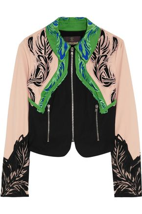 ROBERTO CAVALLI Embroidered cotton-blend jacket