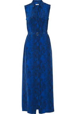 EQUIPMENT Belted printed washed-silk maxi dress