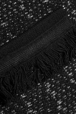 DIANE VON FURSTENBERG Sheila metallic fringed bouclé-tweed jacket