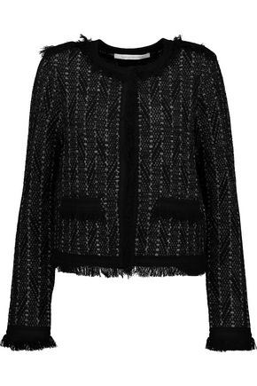 DIANE VON FURSTENBERG Sheila metallic fringed bouclé-tweed jacket