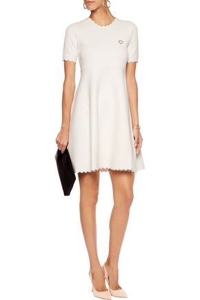 LOVE MOSCHINO Pleated stretch-knit dress