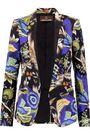 ROBERTO CAVALLI Printed crepe blazer