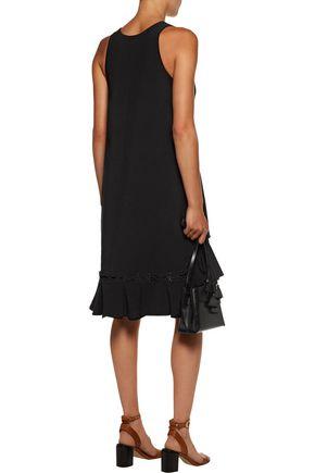 CHLOÉ Lace-up crepe dress