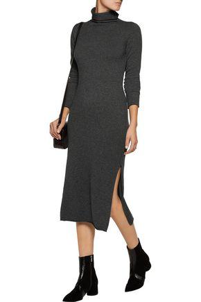LINE Merino wool and cashmere-blend turtleneck dress