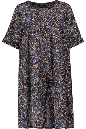 CURRENT/ELLIOTT Floral-print cotton-voile mini dress