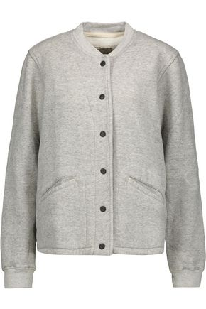 CURRENT/ELLIOTT The Classic marled cotton-blend jacket