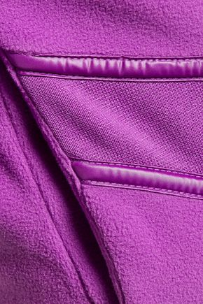 ADIDAS by STELLA McCARTNEY WS Performance quilted shell and jersey paneled fleece hooded jacket