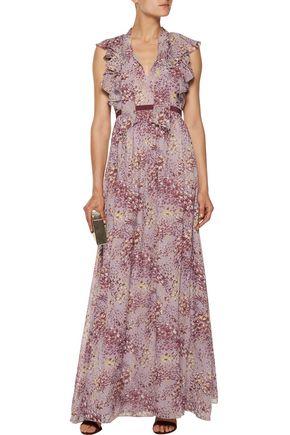 GIAMBATTISTA VALLI Ruffled printed silk-chiffon gown