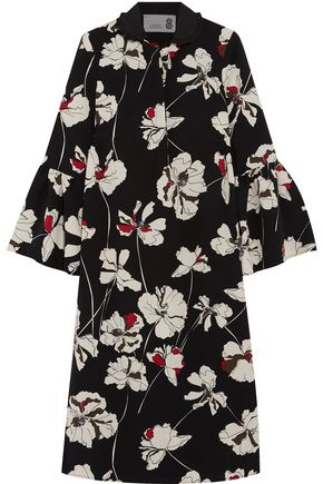 8 Printed crepe midi dress