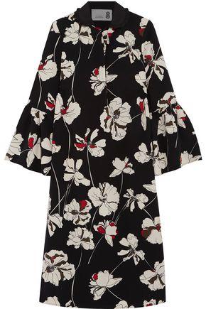 8 Printed crepe midi dress