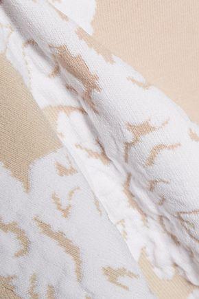 MILLY Fluted jacquard-knit mini dress