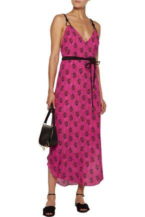 VIX Laos embellished printed voile midi dress