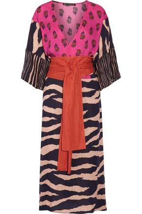 VIX PAULAHERMANNY Lanai belted printed voile dress