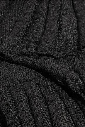 DIANE VON FURSTENBERG Sharlynn ruffled ribbed stretch-knit mini dress