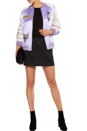 OPENING CEREMONY Fairytale reversible appliquéd silk-satin bomber jacket