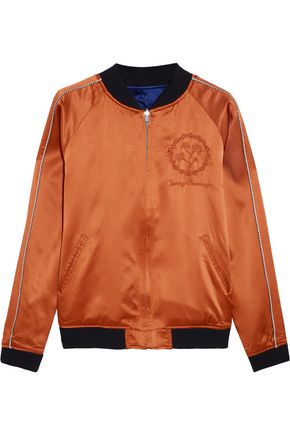 OPENING CEREMONY Reversible embroidered silk-satin bomber jacket