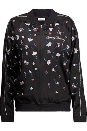 OPENING CEREMONY Embellished silk-satin bomber jacket