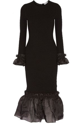 OPENING CEREMONY Organza ruffle-trimmed cady dress