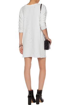 RTA Veronique distressed cotton-blend jersey mini dress