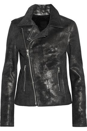 RTA Nico metallic leather biker jacket