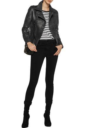 RTA Nico metallic leather biker jacket