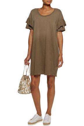 CURRENT/ELLIOTT Ruffled cotton-jersey dress
