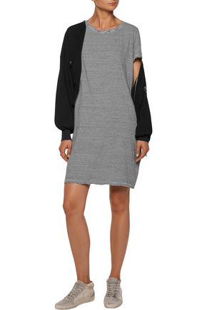 CURRENT/ELLIOTT The Beatnik striped slub cotton-blend mini dress