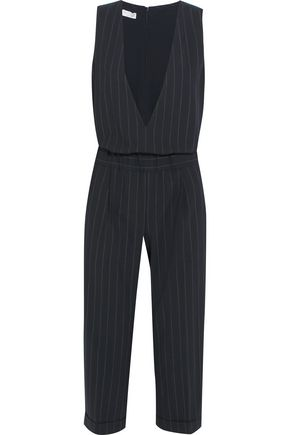 BRUNELLO CUCINELLI Pinstriped wool-blend jumpsuit