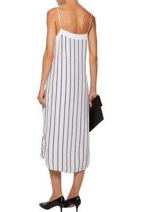 EQUIPMENT Dian striped washed-silk midi dress