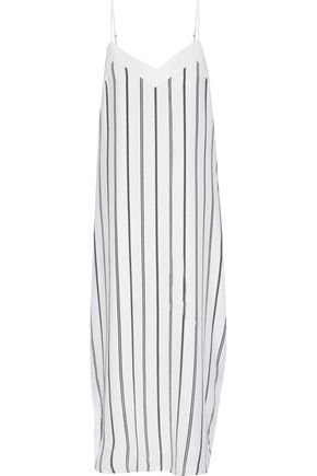 EQUIPMENT Dian striped washed-silk midi dress
