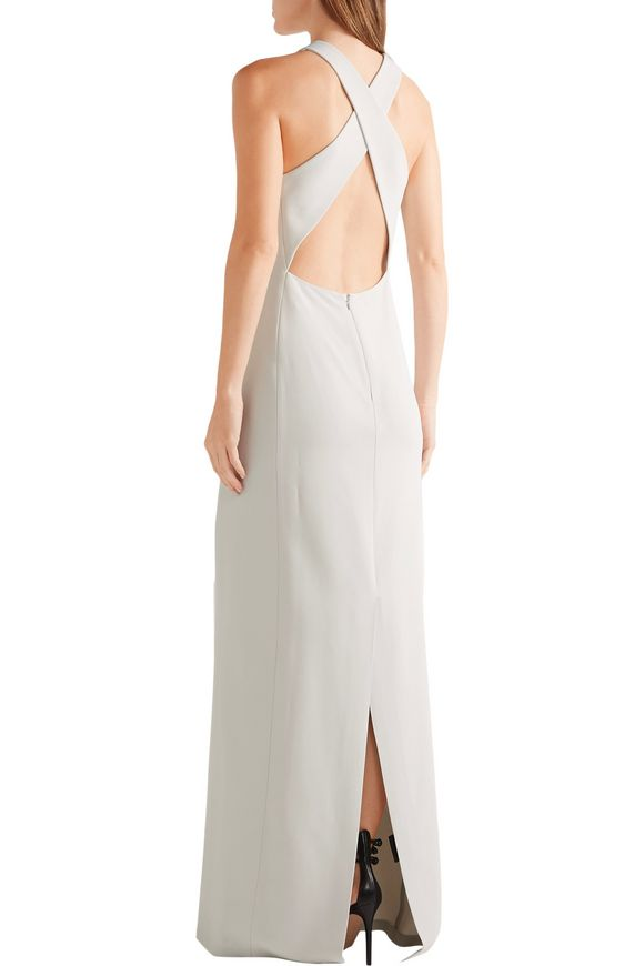 Open-back stretch-cady gown | CALVIN KLEIN COLLECTION | Sale up to 70% off  | THE OUTNET