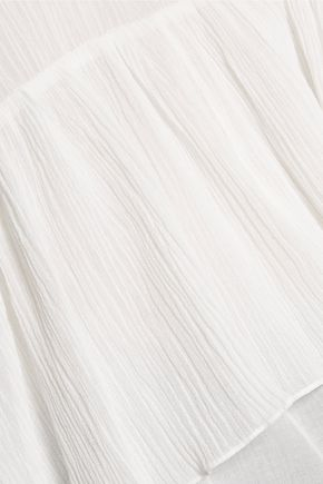 CHLOÉ Ruffled cotton-crepon blouse