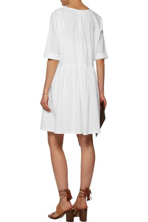 CURRENT/ELLIOTT The Lacey embroidered cotton mini dress
