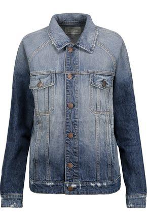 CURRENT/ELLIOTT The Raglan distressed denim jacket