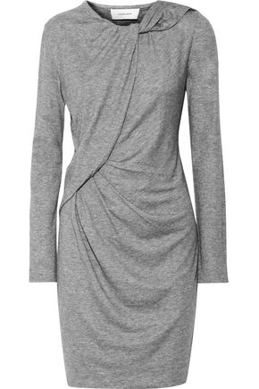 CARVEN Gathered stretch-jersey mini dress