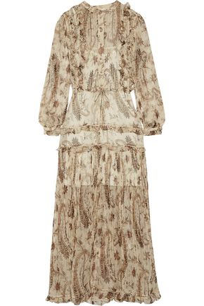 ZIMMERMANN Mischief ruffled printed georgette maxi dress