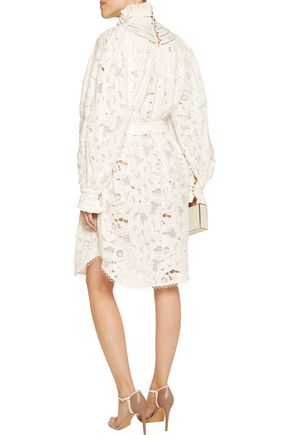 ZIMMERMANN Broderie anglaise cotton mini dress