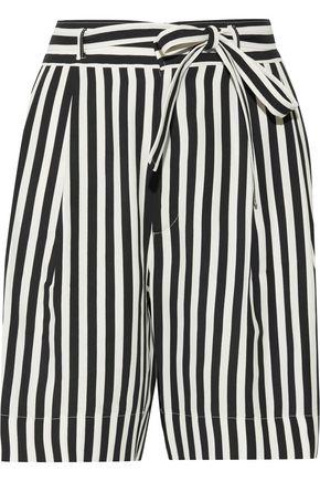 PHILOSOPHY di LORENZO SERAFINI Belted striped crepe shorts