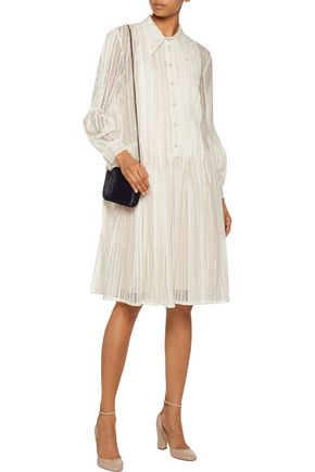 PHILOSOPHY di LORENZO SERAFINI Pleated cotton-blend lace mini dress
