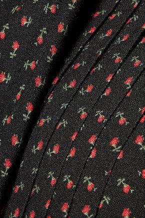 PHILOSOPHY di LORENZO SERAFINI Pleated floral-print washed-crepe mini dress