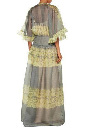 PHILOSOPHY di LORENZO SERAFINI Ruffled printed silk-organza maxi dress