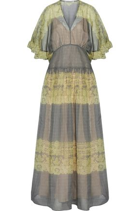 PHILOSOPHY di LORENZO SERAFINI Ruffled printed silk-organza maxi dress