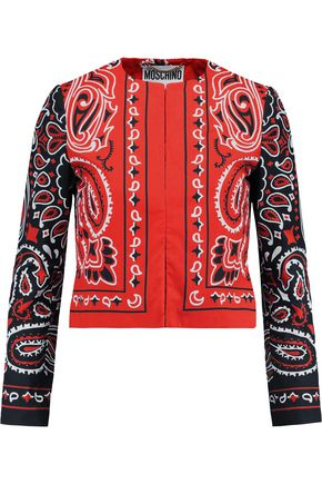 MOSCHINO Printed cotton jacket
