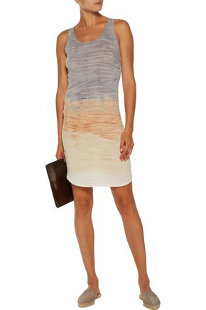 KAIN LABEL Simon dégradé stretch cotton and modal-blend mini dress