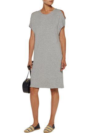 MAJESTIC Cold-shoulder stretch-jersey mini dress