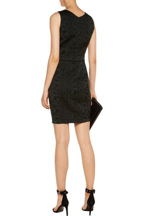 VERSACE JEANS Embellished jacquard mini dress