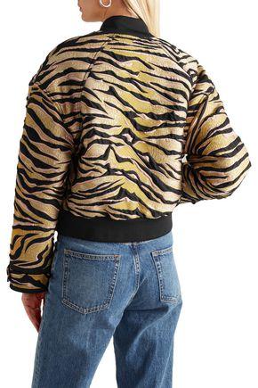KENZO Shell-trimmed jacquard bomber jacket