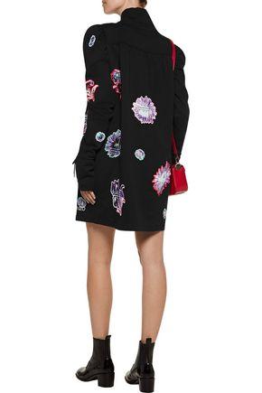 KENZO Embroidered cotton mini dress